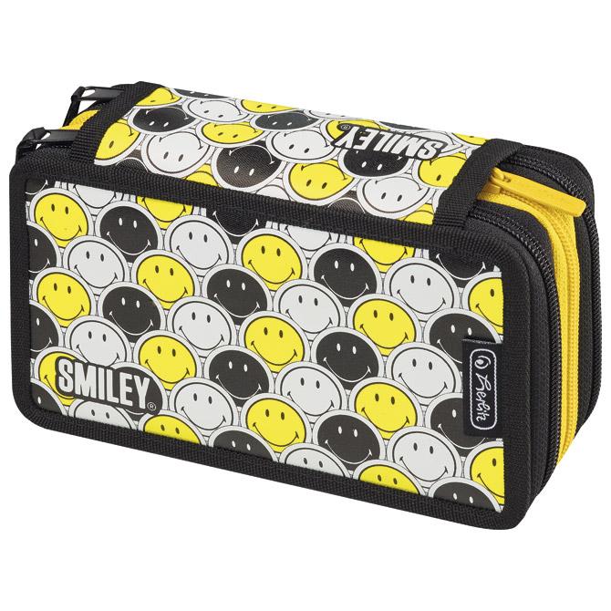 Pernica puna 3zipa Smiley Black and Yellow Faces Herlitz 50015429