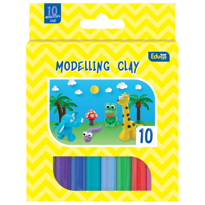 Plastelin 10bojax15g Color Educa blister