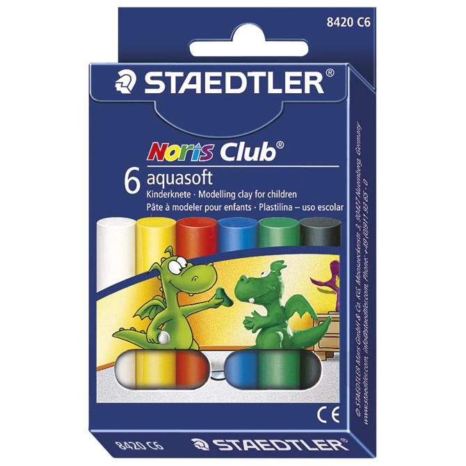 Plastelin  6boja Noris Staedtler 8420 C6 blister