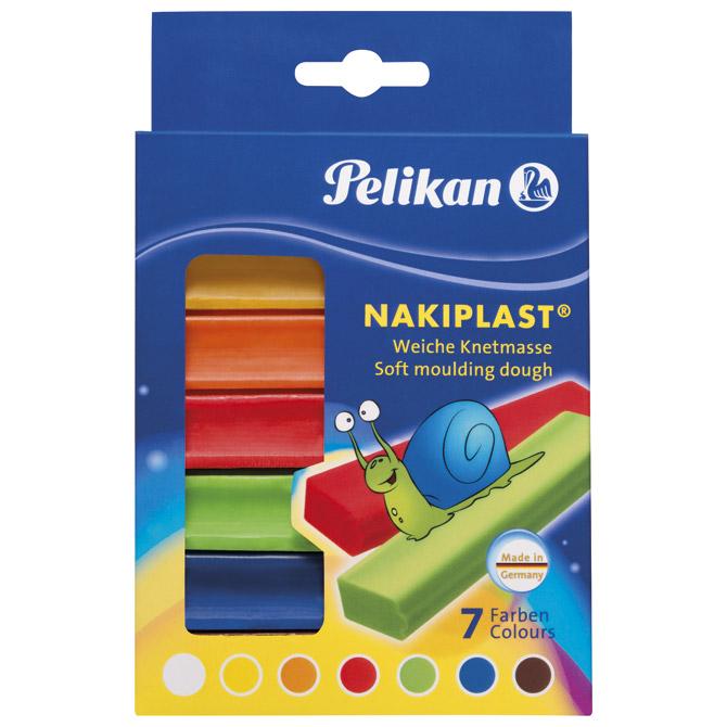 Plastelin  7boja (total 125g) karton Nakiplast Pelikan 622712 blister