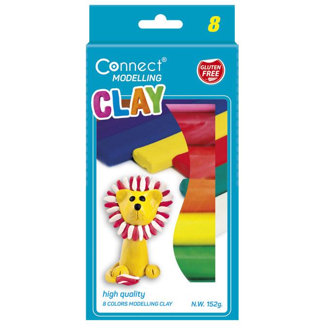 Plastelin  8boja karton Connect blister