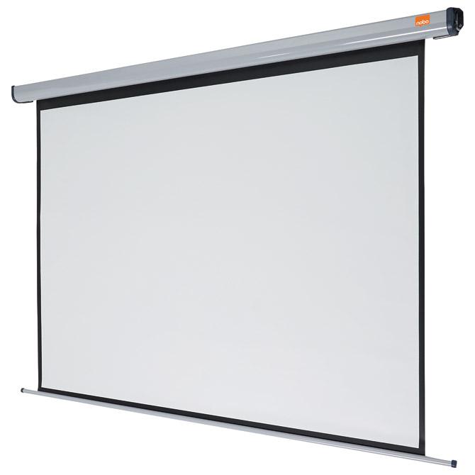 Platno projekcijsko električno zidno 192x144cm Nobo 1901972 sivo