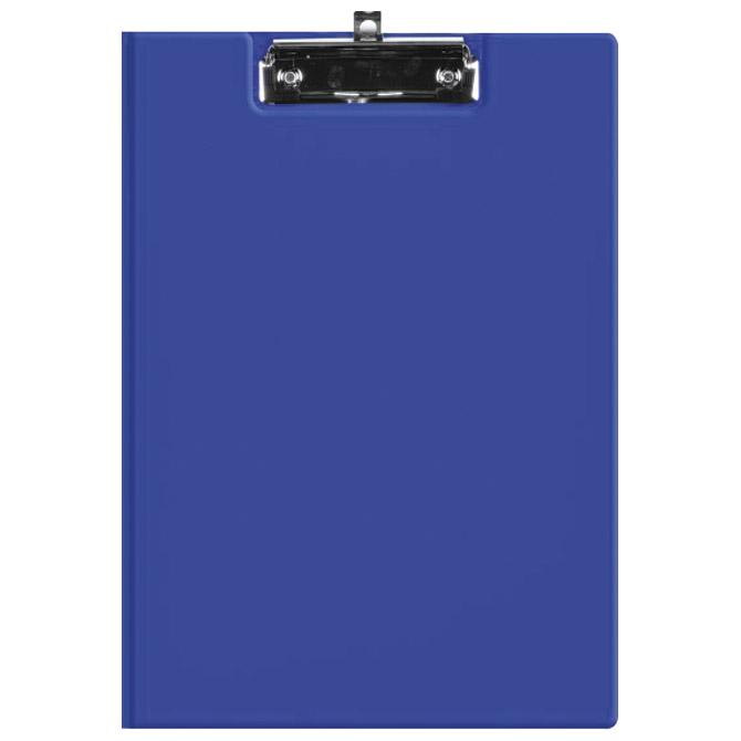 Ploča klip s preklopom+kvačica A4 kartonski pp Fornax plava