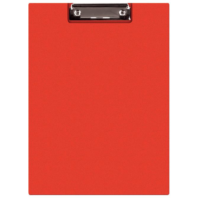 Ploča klip s preklopom+kvačica A4 pp Donau 2705001PL-04 crvena