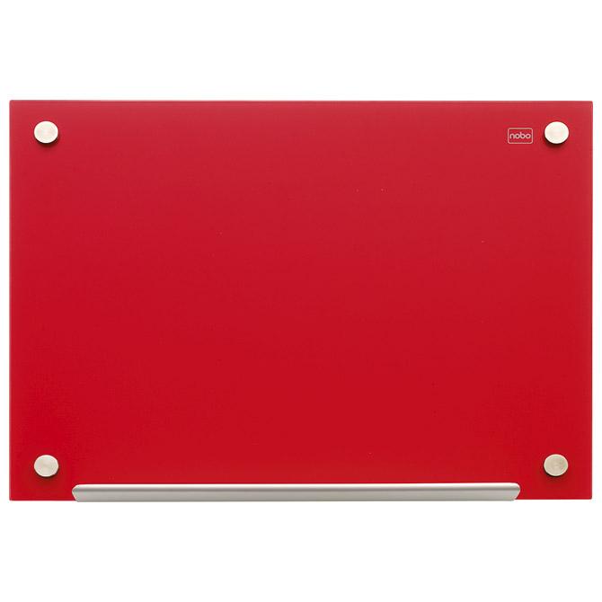 Ploča magnetna 120x90cm staklena Nobo 1903844 crvena!!