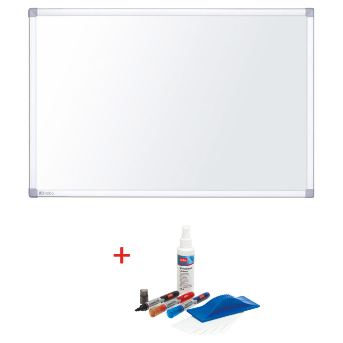 """Ploča magnetna 55"""" widescreen tanki okvir Nano Clean Nobo 1905298  bijela + set za bijelu ploču Nobo 34438861"""