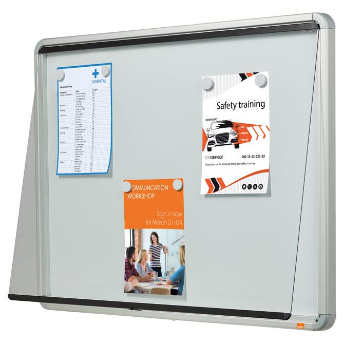 Ploča oglasna magnetna-staklena krilna vrata 100x75
