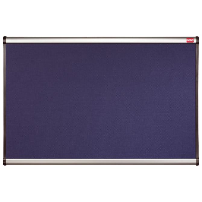 Ploča pluto/tkanina mesh 90x60cm jednostrana aluminijski okvir Nobo QBPM9060B plava!!