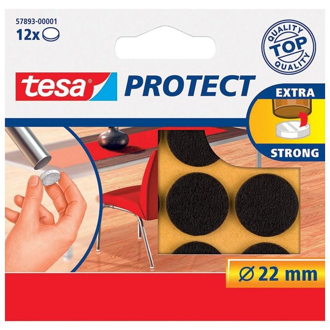 Podložak filc okrugli 22mm pk12 Tesa 57893-1 smeđi