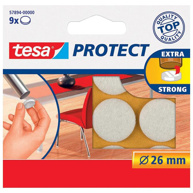 Podložak filc okrugli 26mm pk9 Tesa 57894-0 bijeli