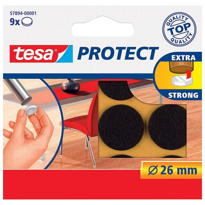 Podložak filc okrugli 26mm pk9 Tesa 57894-1 smeđi
