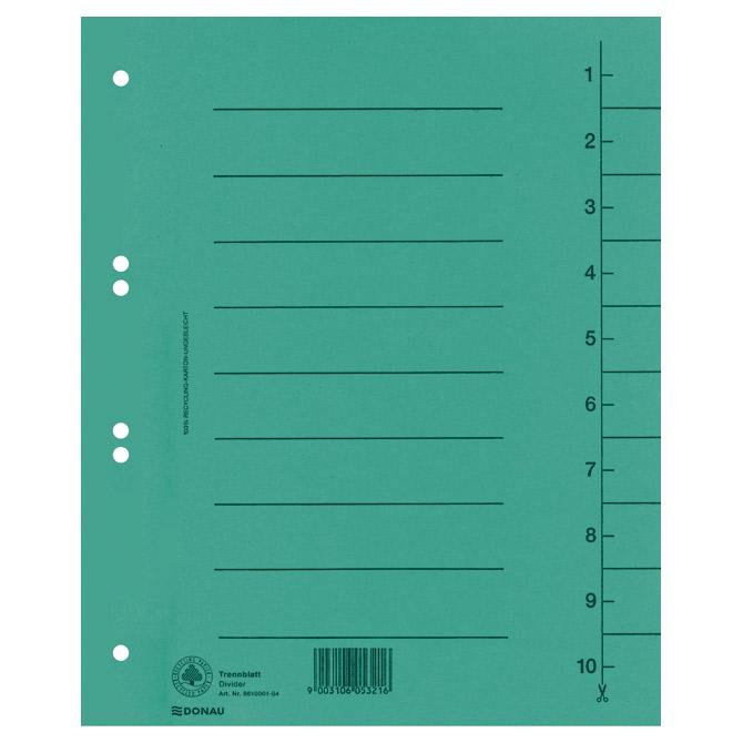 Pregrada kartonska A4 250g Donau 8610001-06 zelena
