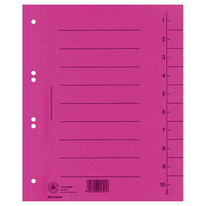 Pregrada kartonska A4 250g Donau 8610001-16 roza!!