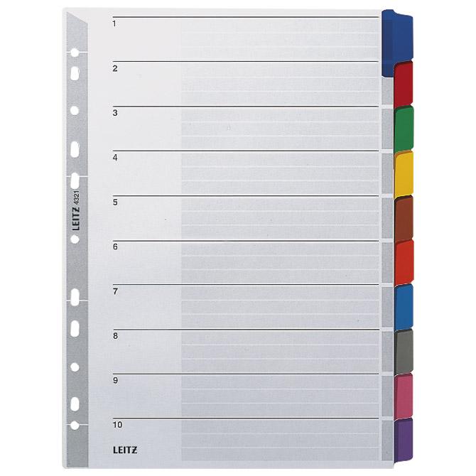 Pregrada kartonska A4 kolor 10listova Leitz 43210000