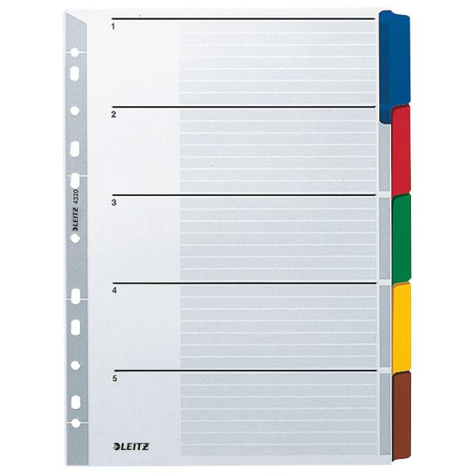 Pregrada kartonska A4 kolor  5L Leitz 4320