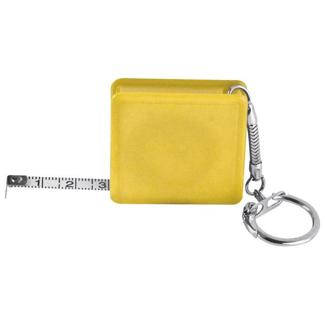 Privjesak za ključeve metar automatski 1m žuti