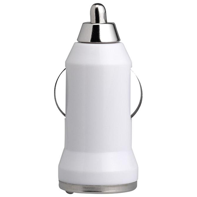 Punjač za auto aluminijski/ABS bijeli
