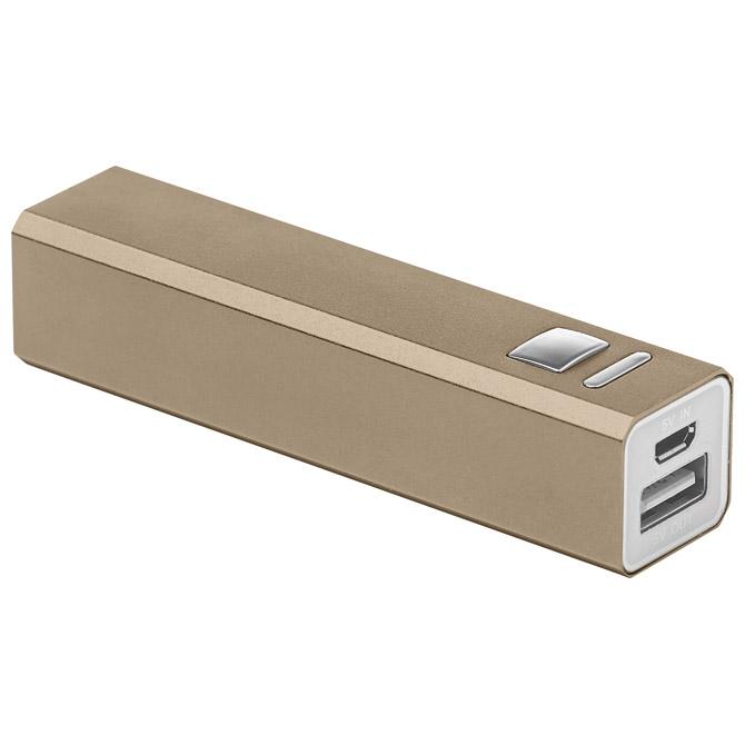 Punjač za mobilne uređaje aluminijski prijenosni zlatni