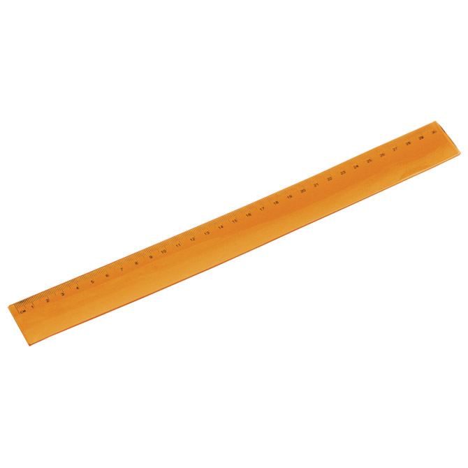 Ravnalo pvc 30cm flexibilno narančasto