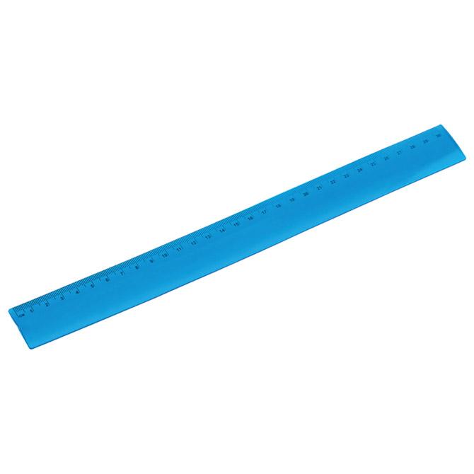 Ravnalo pvc 30cm flexibilno plavo