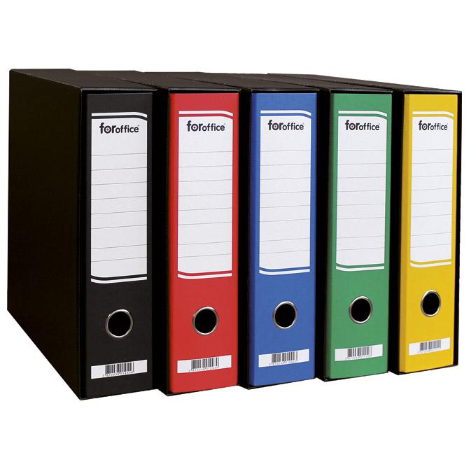 Registrator A4 široki u crnoj kutiji FORoffice crni