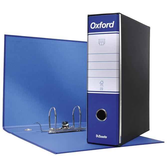 Registrator A4 široki u crnoj kutiji Oxford Esselte 390783050 plavi