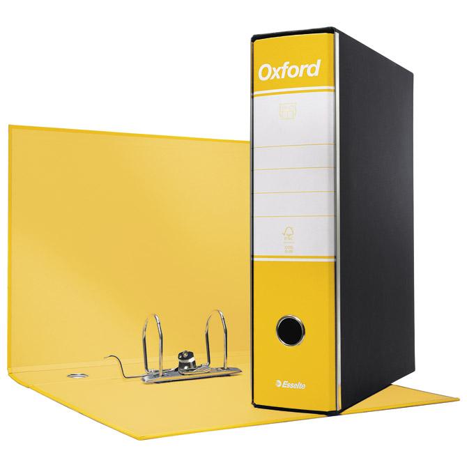 Registrator A4 široki u crnoj kutiji Oxford Esselte 390783090 žuti