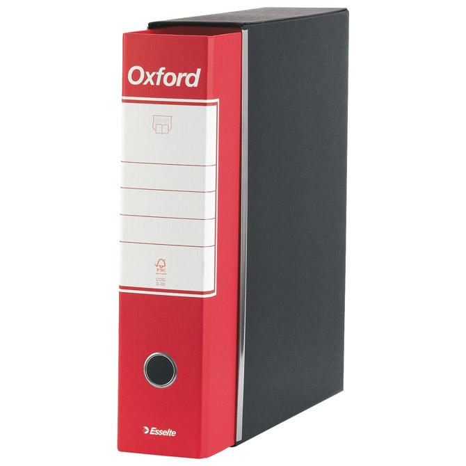 Registrator A4 široki u crnoj kutiji Oxford Esselte 390783160 crveni