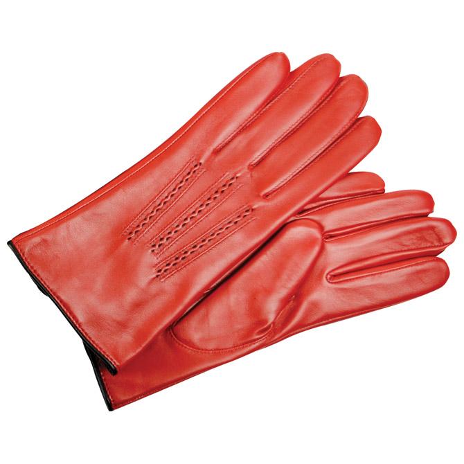 Rukavice kožne ženske Galko 71-0080-R03 crvene M