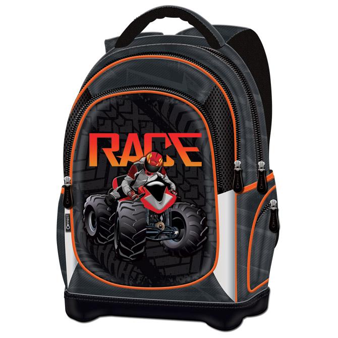 Ruksak školski anatomski lagan ATV Race Connect crno-narančasti!!