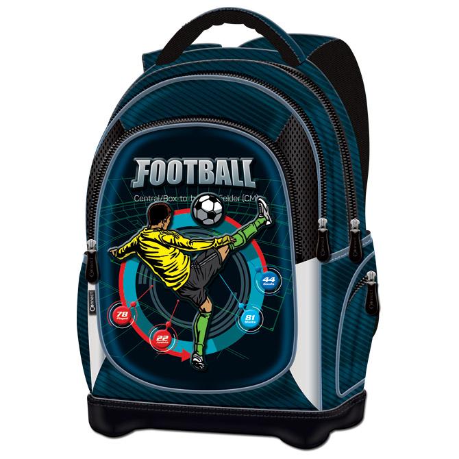 Ruksak školski anatomski lagan Football Player Connect crno-plava petrolej!!