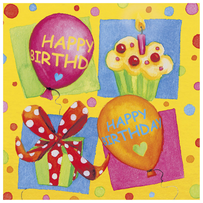 Salvete troslojne 33x33cm pk20 Birthday Party Herlitz 11095130!!