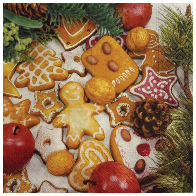 Salvete troslojne 33x33cm pk20 Gingerbread Herlitz 40043661!!