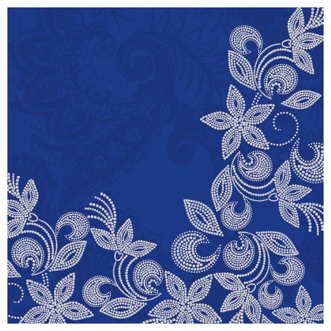 Salvete troslojne 33x33cm pk20 Grace blue Herlitz 11375573!!