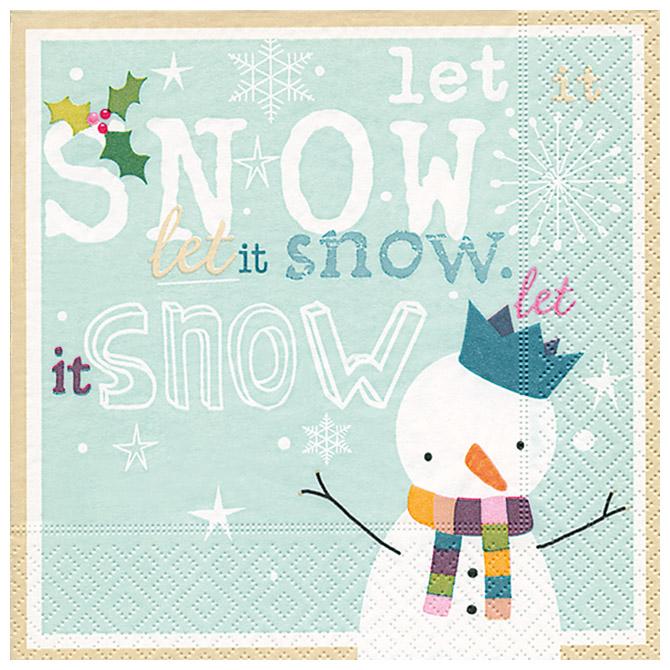 Salvete troslojne 33x33cm pk20 Let it snow Herlitz 40023748!!
