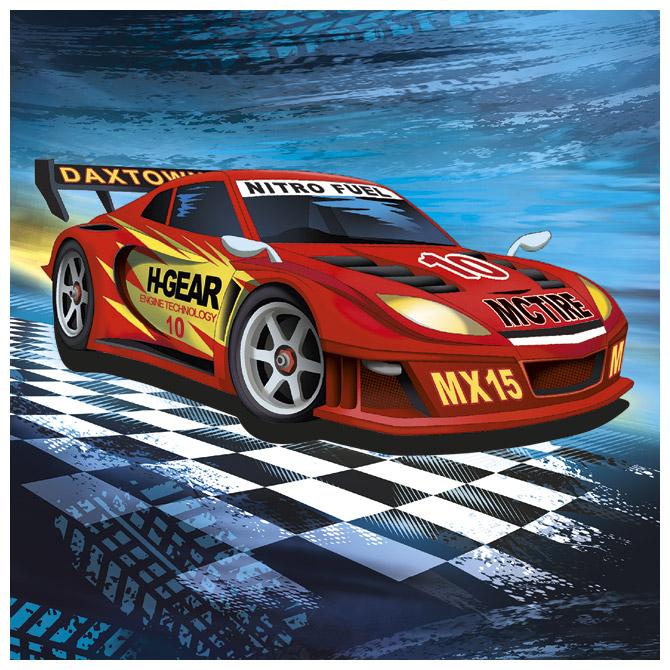 Salvete troslojne 33x33cm pk20 Super racer Herlitz 11449584!!