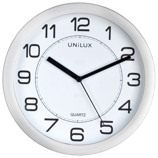 Sat zidni fi-22cm Attraction Unilux 400094404 sivi
