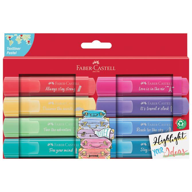 Signir 1-5mm 46 Pastel kartonska kutija Faber Castell 254626/8boja blister
