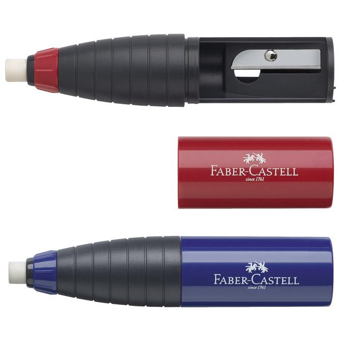 Šiljilo-gumica pvc 1rupa Faber Castell 184401 sortirano