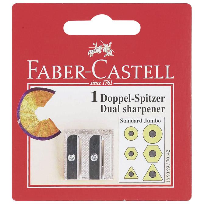 Šiljilo metalno 2rupe Faber Castell 189099 blister!!