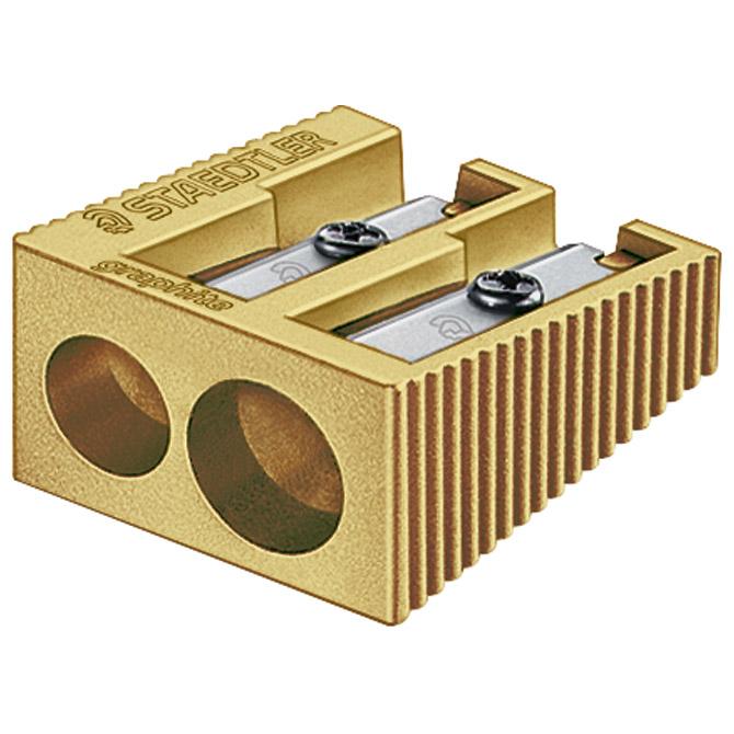 Šiljilo metalno 2rupe Staedtler 510 20 PR1 zlatno!!