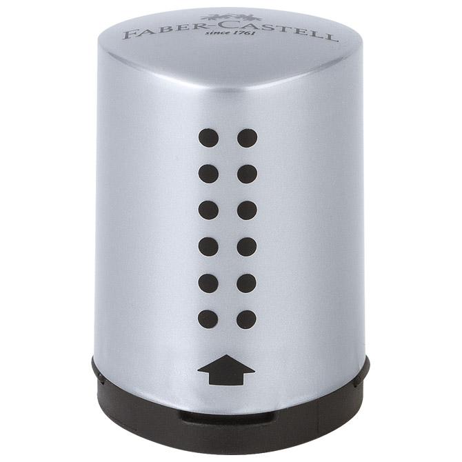 Šiljilo pvc s pvc kutijom 1rupa Grip 2001 mini Faber Castell 183700 srebrno