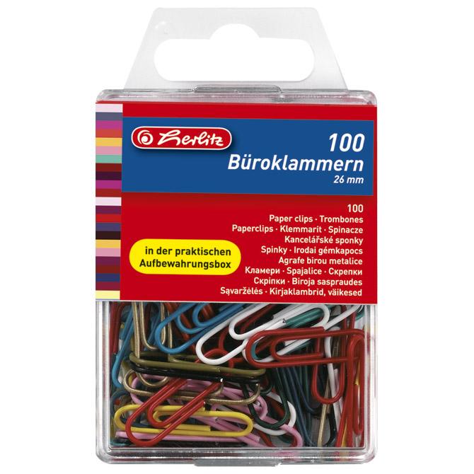 Spajalice ručne pvc kutija pk100 Herlitz 8760811 boja blister