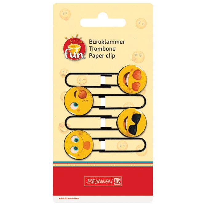 Spajalice ručne velike Smiley pk4 Brunnen 10-20671 01 blister