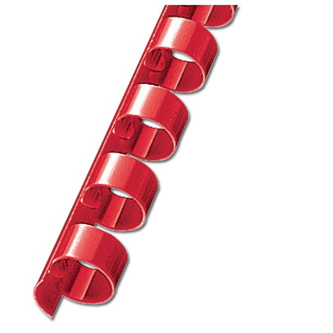 Spirala plastična fi-19mm pk100 Fornax crvena!!