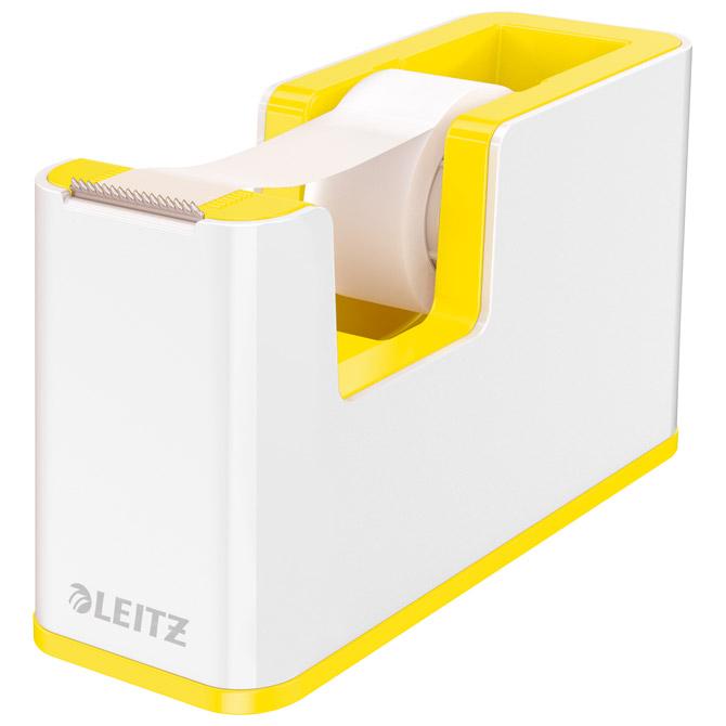 Stalak s trakom ljepljivom Wow Leitz 53641016 bijeli/žuti