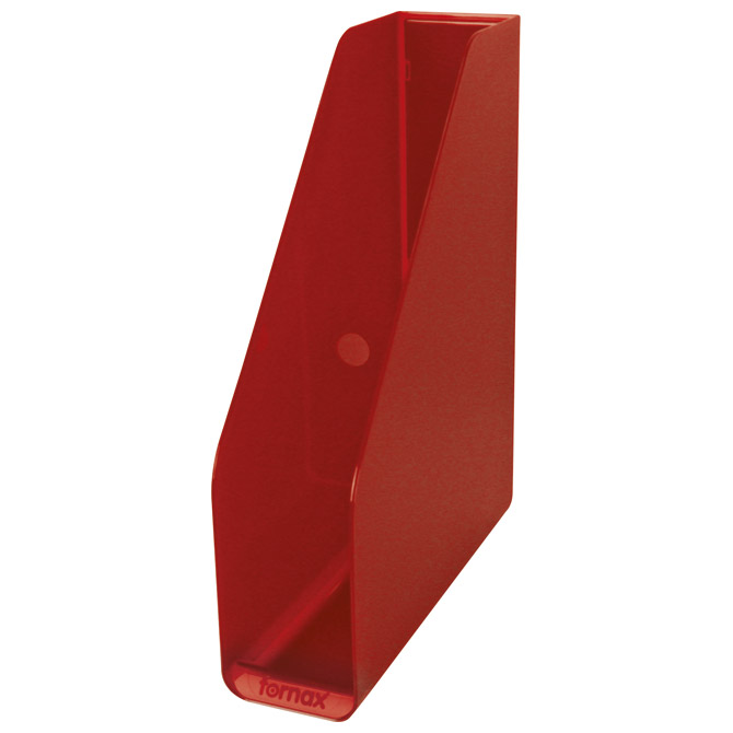 Stalak za spise okomit plastičan Fornax crveni