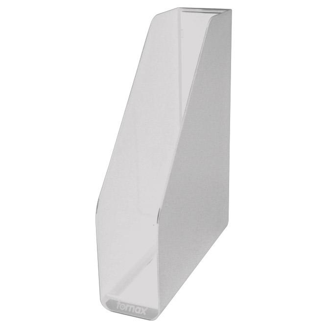 Stalak za spise okomit plastičan Fornax prozirni