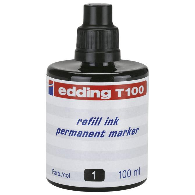 Tinta za marker permanentni  100ml Edding T100 crna