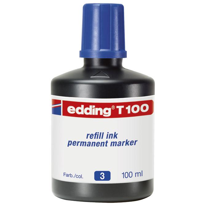Tinta za marker permanentni  100ml Edding T100 crvena